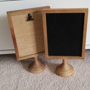 Corkboards/Chalkboard